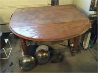 Drop Leaf Table, 41 X 26 X 28, No Contents