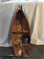 Wooden Boat Shelf Decoration 36 X 12