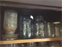 Jars Including Green Mason With Zinc Lid And