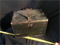 Wooden Box With Handle, 11 X 7 1/2 X 7
