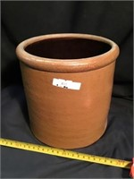 Crock, Hairline crack, 7 1/2 inch tall
