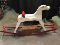 Primitive child's rocking horse, 48 x 23