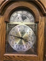 Ridgeway grandfather clock with pendulum and