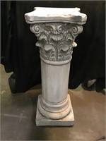 Pedestal 29 x 10, Plaster, Chips