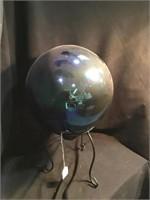 Gazing ball on stand