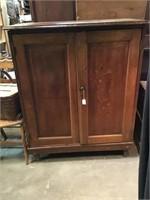 Record cabinet, Oak , 36 x 45 1/2 x 19 1/2