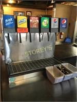 6 Head Drink Dispenser w/ Lines, Etc.