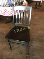 Slat Back Wood Dining Chair