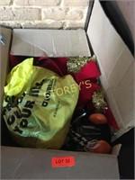 Box of Christmas Decorations