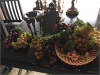 Faux Grapes, Platter, Etc.