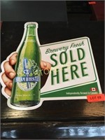 Tin Steam Whistle Beer Sign - 16 x 17
