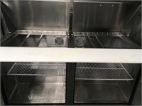 "Sinco 60"" Refrigerated Prep Table on Wheels"