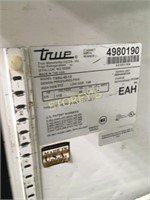 """True 48"""" Refrigerated Prep Table on Wheels"""