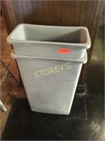 Rubbermaid Grey Garbage Bins 20 x 10 x 30
