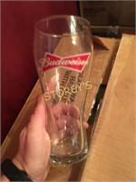 12 Budweiser Beer Glasses