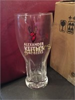 6 New Alexander Keith's Beer Glasses