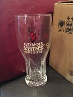 12 New Alexander Keith's Beer Glasses