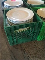 Crate of Approx. 30 Dinner Plates
