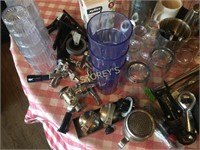 Qty of Assorted Barware