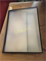 Box of Like New 4 Page Menus - approx 19
