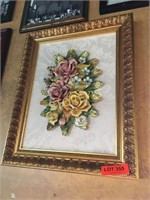 Framed 3D Floral Picture - Made in Italy - 16 x