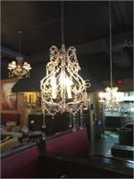 3 Bulb Hanging Chandelier - 6ft