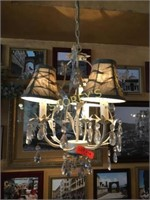 3 Bulb w/ Shade Hanging Chandelier - 6ft