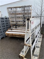 Large Lot of Commercial Steel Glass Racking