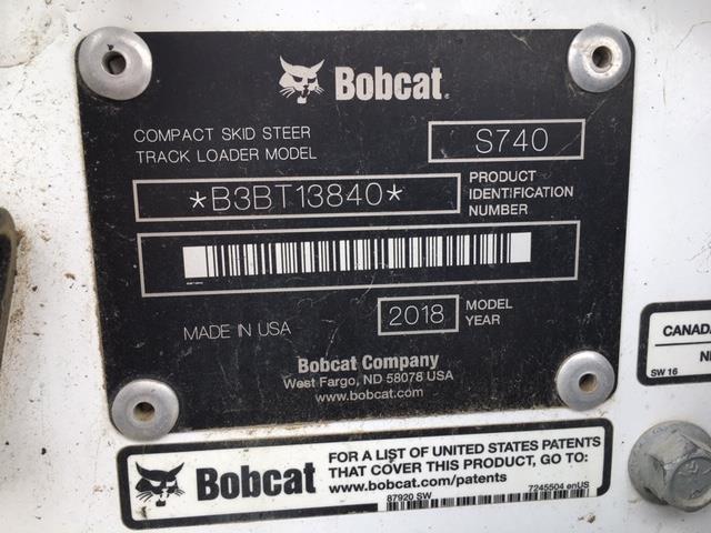 2018 BOBCAT S740