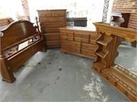 3 piece Bedroom Suite - Queen - Oak