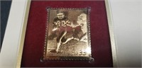Youth team sports football gold stamp