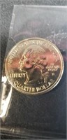 Gold plated uncirculated statehood quarter