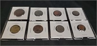 Lot of 8 Foreign coins