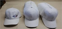 Lot of 31 Blank White Adjustable Hats