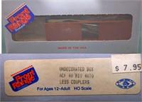 Undecorated 40ft Box Car Front Range HO Kit.