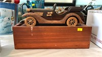Wooden car and box