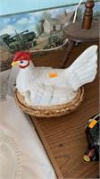Chicken on nest
