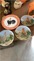 Chicken tin,and  plates