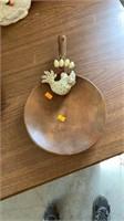Wood chicken pan