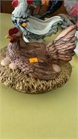 Chicken on a nest