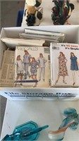 Group lot of sewing supplies and patterns