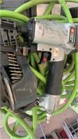 Porter Cable Nail Gun with box of nails and air