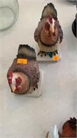 2 chicken decor