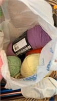 Basket of sewing items
