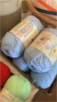 Baby blue yarn