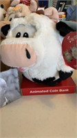 5 animated coin bank animals- needs new batteries