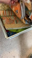 Box of miscellaneous fabric