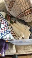 Tot of blankets