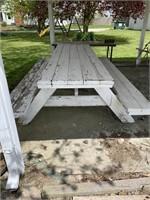 White 8ft picnic table