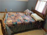 Bed with bedding